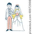 Bride and groom pink 48972008