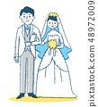 신랑 신부 블루 48972009