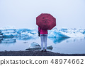 Travel in Jokulsarlon glacial lagoon in Iceland. 48974662