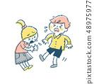 재채기하는 아이 핑크 48975977