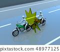 CG 3D例證設計三維自行車摩托車運輸事故麻煩路保險案件 48977125