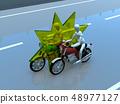 CG 3D例證設計三維自行車摩托車運輸事故麻煩路保險案件 48977127