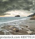 Seascape with stormy sky 48977614
