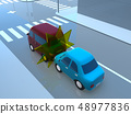 CG 3D 일러스트 디자인 입체 자동차 자동차 교통 사고 문제 추돌 사고 도로 보험 사례 48977836