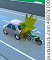 CG 3D插畫設計三維汽車摩托車運輸事故麻煩後端道路保險案例案例教科書 48978100