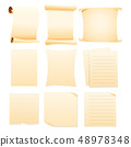 set of Collection blank papers 48978348
