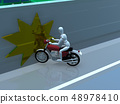 CG 3D例證設計三維自行車摩托車運輸事故麻煩路保險案件 48978410