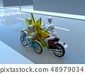 CG 3D 일러스트 디자인 입체 자전거 자전거 교통 사고 문제 해주기 보험 사례 교본 48979034