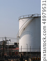 large white Industrial tanks for petrol and oil 48979531