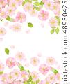 벚꽃 수채화 풍의 질감 48980425