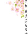 벚꽃 수채화 풍의 질감 48980428