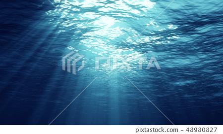 3D rendering of underwater light 48980827