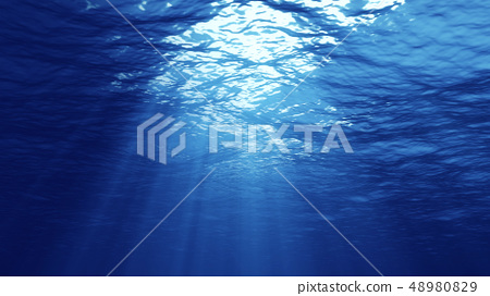 3D rendering of underwater light 48980829