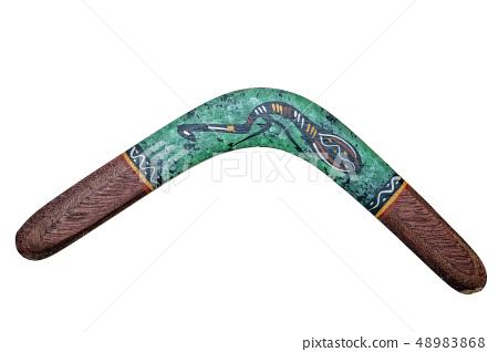 australia boomerang isolated on white 48983868