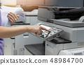 打印机 机器 女人 48984700