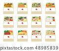 Lunch set illustration set 48985839