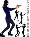 balaclava gun girl 48985914