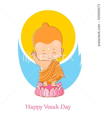 Little Buddha Birthday Vesak Day 48986673