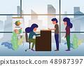 Customer at reception. Reception service or 48987397