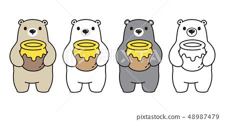 Bear vector Polar Bear icon honey bee logo cartoon 48987479