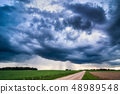 Image of dark Storm clouds in Lithuania 48989548