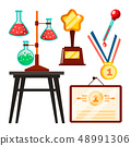 Icons Scientists Discovery Study Vector. Isolated Flat Cartoon Illustration 48991306