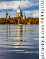 The Hannover city new town hall over Maschsee lake 48993193