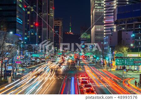 Seoul Cityscape at Night,South Korea. 48993576