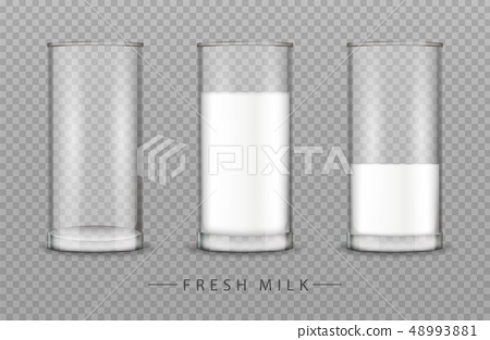 Glass of milk Vector realistic isolated on 48993881