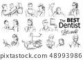 Dentist doctors storyboard Vector. Medical team 48993986