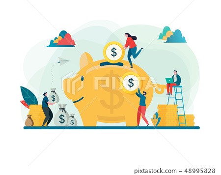 Save money concept. Business finance investment 48995828