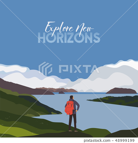 Mountains background. New horizons exploration 48999199