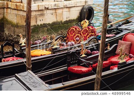 Resting Gondola in Venice 48999546
