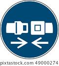 wear safety belt sign  - mandatory sign iso 7010  49000274