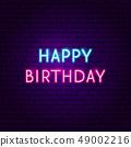 Happy Birthday Neon Sign 49002216