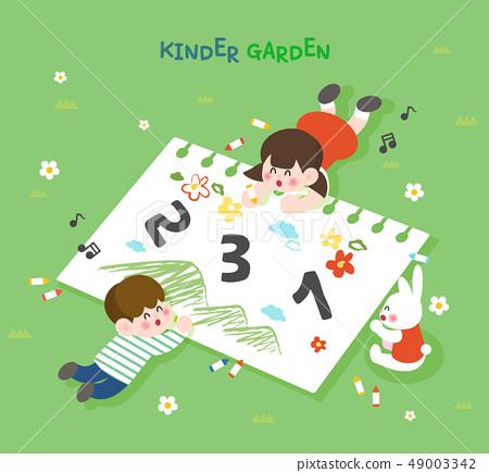 어린이집 교육 일러스트 49003342