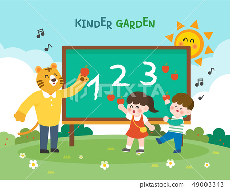 Nursery school education illustration 49003343