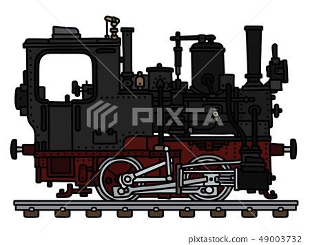 The vintage small steam locomotive 49003732