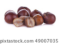 chestnuts isolated on white background 49007035