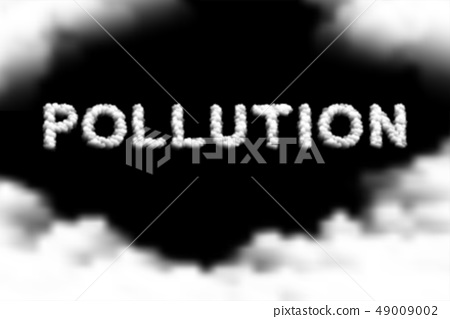 Pollution text Cloud or smoke pattern, PM 2.5 49009002
