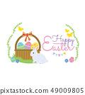 토끼 부활절 일러스트 49009805
