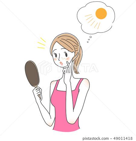 자외선 기미 주근깨 여성 49011418