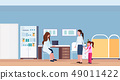 mother with little daughter visiting pediatrician female doctor sitting workplace desk modern 49011422
