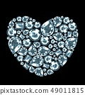 Diamond gem heart, isolated 49011815