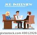 Job Interview in Office Flat Vector Illustration 49012926