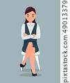 Businesswoman in Formal Suit Flat Illustratio 49013379