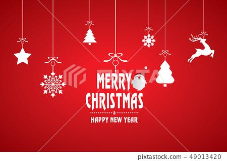 愉快的聖誕節和裝飾例證 49013420