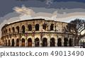 콜로세움 로마 관광 투기장 일러스트 49013490