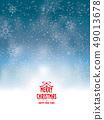 愉快的聖誕節和雪花例證 49013678