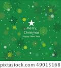 愉快的聖誕節和雪花例證 49015168